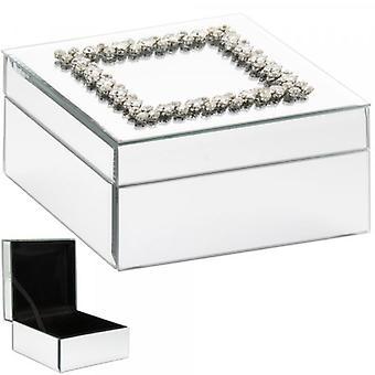 Mirrored Damante Jewellery Box By Lesser & Pavey
