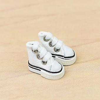 Doll Shoes 3.5cm High Top Canvas Doll Diy Handmade Skate Board Shoe Fingerboard Shoe Sneaker
