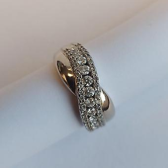 Vintage Ring White Gold 14K avec Diamants 0,75 ct.