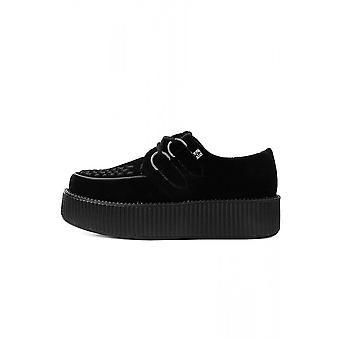 TUK Shoes Black Velvet High Sole Creeper