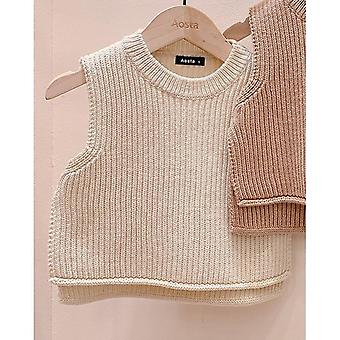 Kids Sweater Vest Autumn Winter Children Clothing Casual O-neck Infant Baby Boys / Girls Clothes Child Tops Waistcoat