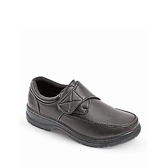 Chums Mens Touch Fasten Comfort Wide Fit Shoe