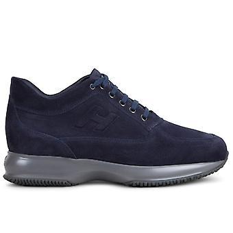Hogan Interaktiv Blå Ruskind Mænds Sneaker