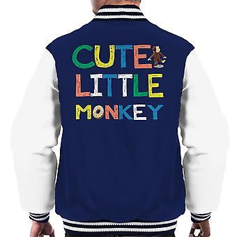 Neugierige George süße kleine Affe Männer's Varsity Jacke
