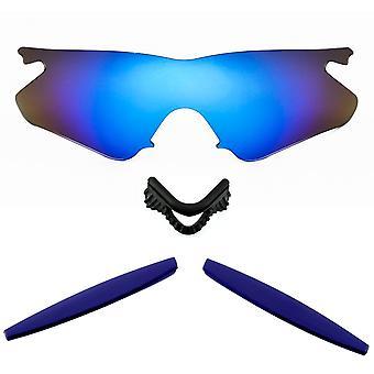 الاستقطاب استبدال طقم عدسة ل Oakley M الإطار سخان الأزرق مرآة البحرية الزرقاء المضادة للخدش المضادة للوهج UV400 SeekOptics