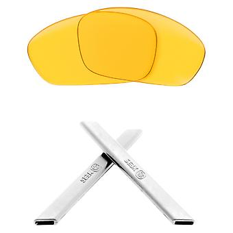Replacement Lenses & Kit for Oakley Straight Jacket Yellow & White Anti-Scratch Anti-Glare UV400 by SeekOptics