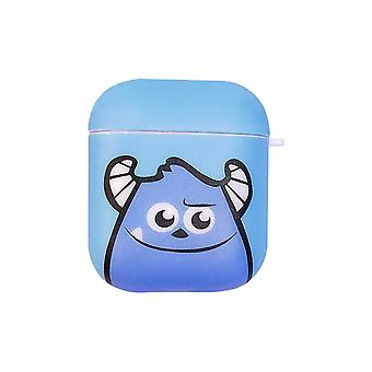Stoßfeste weiche Monster Schutzhülle für Apple AirPods blau