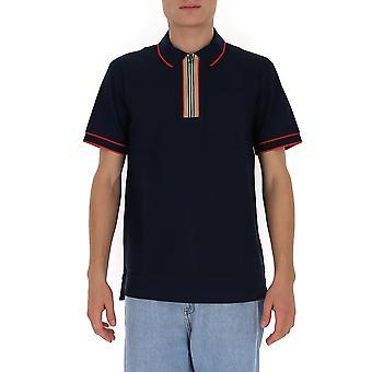 Burberry 8034074 Men's Blue Cotton Polo Shirt