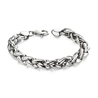 Fred Bennett Stainless Steel Twisted Link Bracelet
