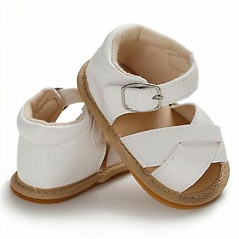 Rutschfest, Pu Leder, solide atmungsaktive Sandalen für Babys