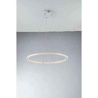 Fan Europe Luce_Ambiente_Design - Lumière intégrée de pendentif en cristal circulaire LED, 4000K