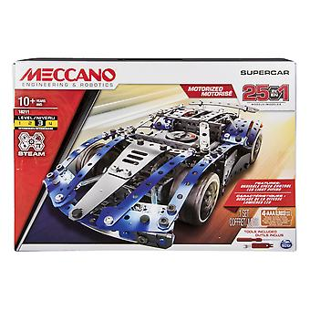 Meccano by erector – 25-model supercar s.t.e.a.m. building kit with led lights, for ages 10 and up