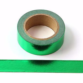 Grüne Folie Washi Tape dekorative selbstklebende Klebeband 15mm x 10m