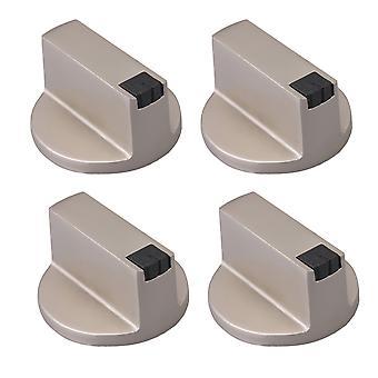 2 Par Sølv Zink Legering 8mm Aksel Core 45 graders gaskomfur knop
