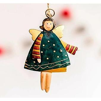 Wooden Angel Dolls Decorations For Home Xmas Pendant Crafts