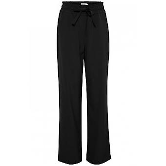 b.young Isole Black Wide Leg Trousers