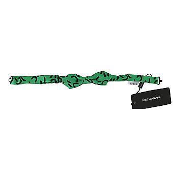 الأخضر نمط أسود قابل للتعديل الرقبة Papillon الرجال القوس التعادل