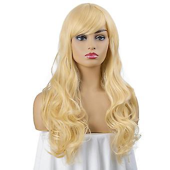 Women Wig Wig Fashion Lady Side Bangs Medium Long Hair Synthetic Wigs
