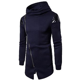 YANGFAN Men's Fashion Hoodie Sweater Irregular Pullover