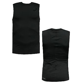 Asics IM Sleeveless Mens Compression Tee Black Vest Top 110470 0904 A72C