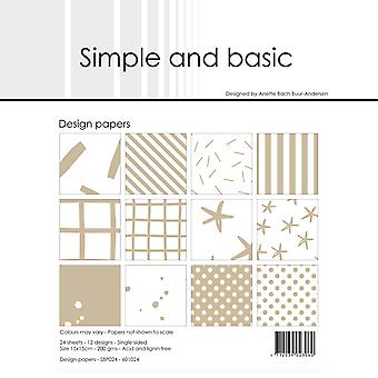 Simple and Basic Baileys Brown 6x6 Inch Paper Pack