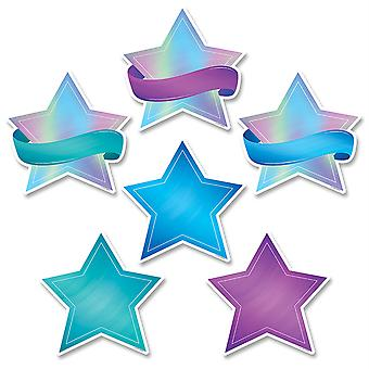 "Mystical Magical Shimmering Stars 6"" Designer Cut-Outs, 36/Pack"