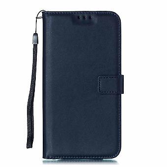 Weiche einfarbige Leder Brieftasche Hüllen Flip Cover Card Slot für Iphone Xs Max X