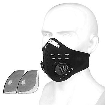 Αναπνεύσιμη ενεργοποιημένη αντιρρύπανση άνθρακα Pro ποδηλασία μάσκα προσώπου με φίλτρα