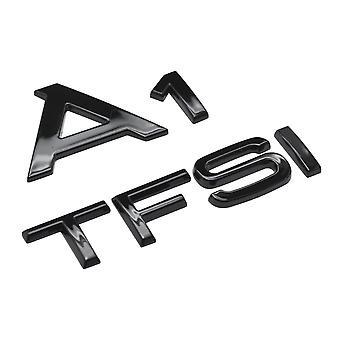 Gloss Black A1 TFSI Lettering Rear Boot Lid Trunk Badge Emblem For A1 Models