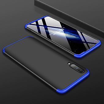 Material certificado® caja híbrida Samsung Galaxy A51 - Cubierta de caja a prueba de golpes de cuerpo completo negro-azul