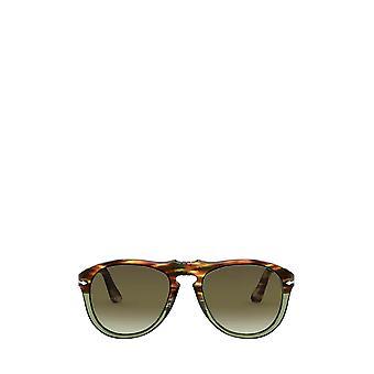 Persol PO0649 tortuga marrón y gafas de sol macho verde ópalo
