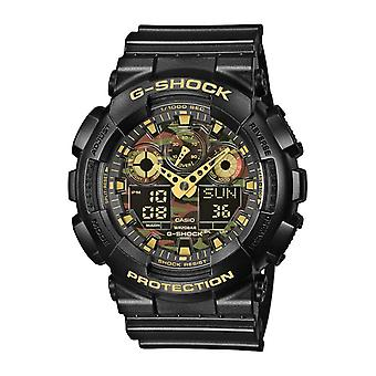 Montre Casio G-Shock GA-100CF-1A9ER - Montre Militaire Noire Homme