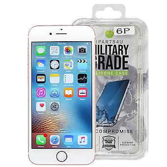 iParts4u Military Grade Silicone Case - iPhone 6 Plus/6S Plus - Clear