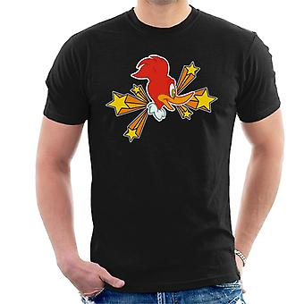 Woody Woodpecker Character Head With Stars Men's T-Shirt