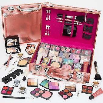 Dawn Till Dusk Make Up Large Storage Vanity Case Set 80pc - Rose Gold