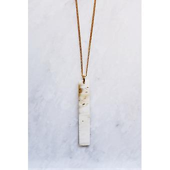 Buffalo Horn Minimalist Bar Pendant Necklace