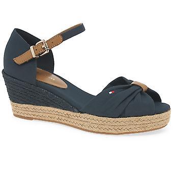 Tommy Hilfiger Basic sandalias de mujer de punta abierta