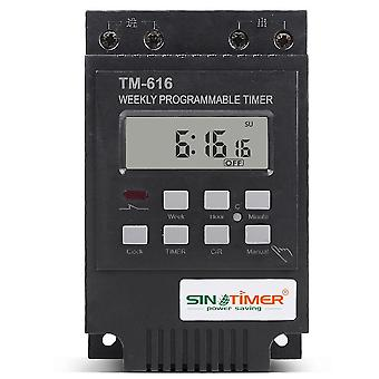 Weekly Programmable Digital Time Switch Relay Control Timer