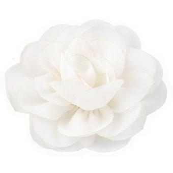Newborn Chiffon Petals Poppy Rolled Rose Flower Hair Clips