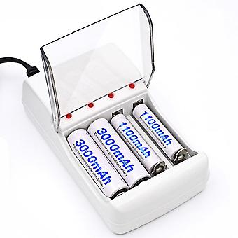 Palo C707 4 Fentes LED Indicateur Smart Charger pour AA / AAA NiCd NiMh Batterie rechargeable
