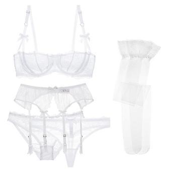 5 Pcs- Garters/ Panties/ Thongs/ Stockings Underwear Bra Set