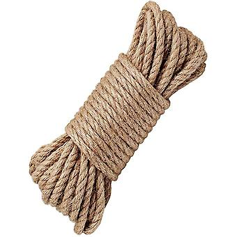 HanFei 100% Natur Hanf Cord Seilen 6 mm Dicke und Starke Jute Seil Band, Camping Seil, Garten,
