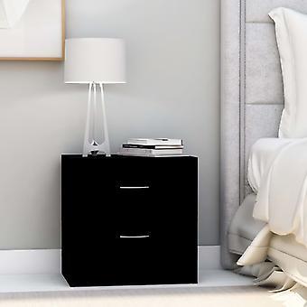 vidaXL Bedside Table Black 40 x 30 x 40 cm Chipboard