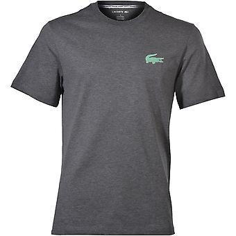 Lacoste Kontrast Logo Crew-Neck T-skjorte, Grå