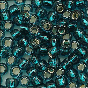 Toho Pyöreä Siemenet 6/0 #27BD 'Hopea vuorattu Sininen' 8 Gram Tube