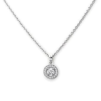 Eye Candy ECJ-NL0028 Women's necklace with hoop pendant, sterling silver 925 rhodium, with 18 white zircons, 45 cm