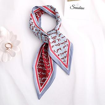 Sweet Love Print Women Small Silk Scarf