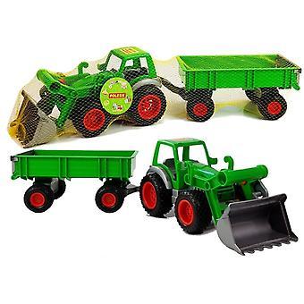 Spielzeugtraktor mit Schaufel & Anhänger 63 cm – Grün