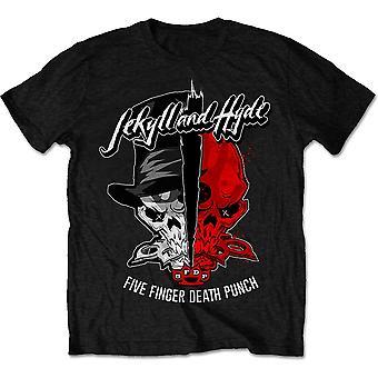 Five Finger Death Punch - Jekyll & Hyde Men's X-Large T-Shirt - Preto