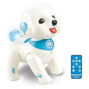 Rc robot dog smart puppy teddy programmable voice control singing walking remote control electronic pets toys for kids